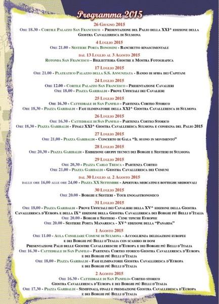Programma Giostre 2015 - retro