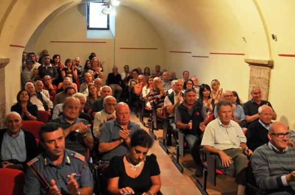Il pubblico presente alla cerimonia che si è tenuta a Palazzo Nanni