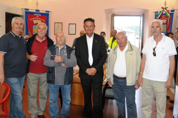 Il carabiniere con gli amici di Campo di Giove