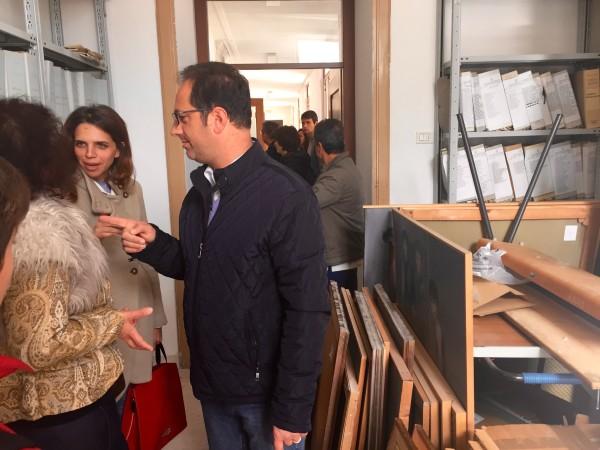 L'assessore Stefano Goti e la consigliera provinciale Roberta Salvati