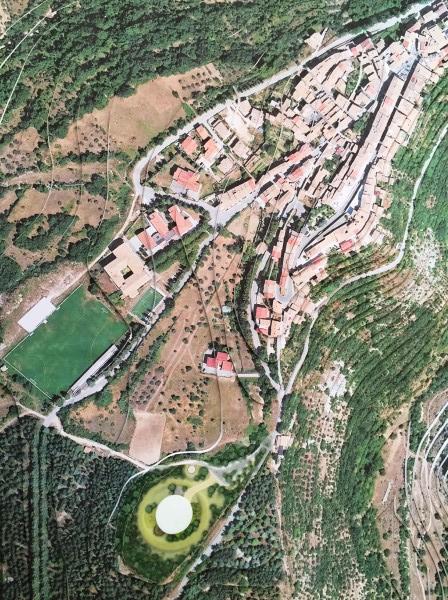 Planimetria con il punto esatto dove sarà realizzata la scuola
