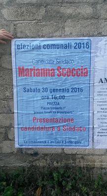 il manifesto che annuncia la presentazione della candidatura
