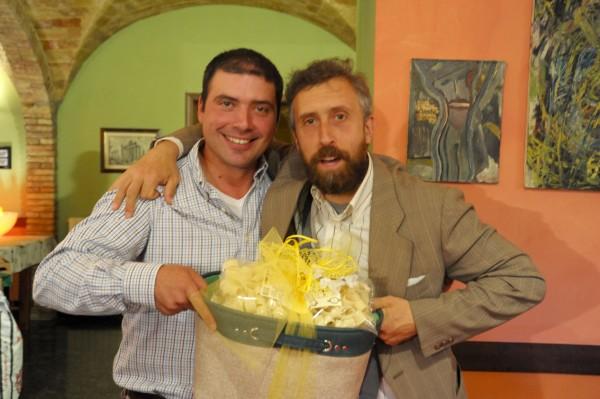 Alessandro Licci con il vincitore tra i rosati Vincenzo Campagna