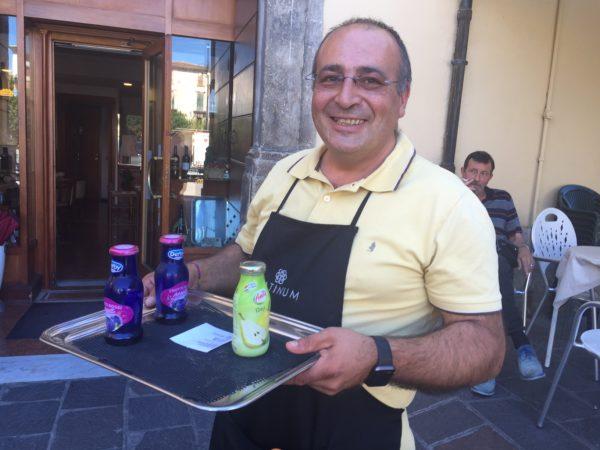 Marco Lucente titolare del Bar Caprice piazza Garibaldi