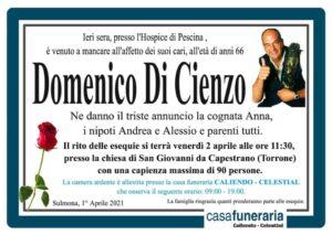 Domenico di cienzo funerario